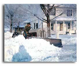 Grandpa Plowing Snow Image
